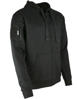 Kombat Black Spec-Ops Hoodie Deluxe Zipped Warm Jumper Outdoors Camping Military