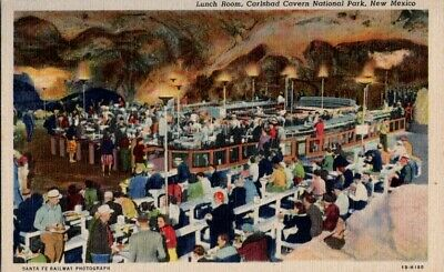 Vintage Postcard Lunch Room Carlsbad Cavern National Park NM New Mexico     A-91