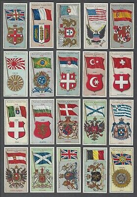 1905 John Player & Sons Countries Arms & Flags Tobacco Cards Complete Set of 50