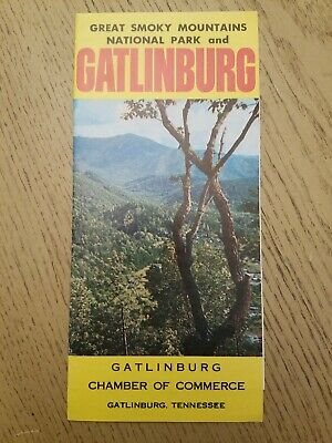VTG 1960s OFFICIAL COC Gatlinburg & Great Smoky Mountains National Park Brochure