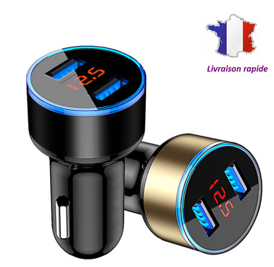 chargeur Allume Cigare voiture, charge rapide, universel iphone ipad Samsung ...