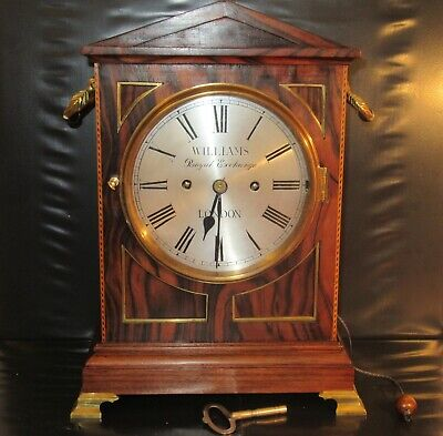 Antique Regency 8 Bell 5 Gong Musical Fusee Bracket Clock -Chime/Silent & Repeat