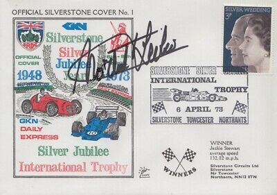 Michel Leclere Hand Signed Silverstone Silver Jubilee Year First Day Cover.