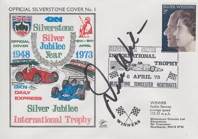 Desire Wilson Hand Signed Silverstone Silver Jubilee Year First Day Cover.