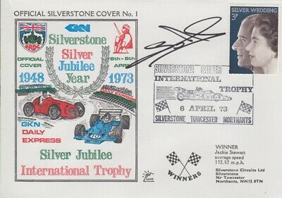 Eric van de Poele Hand Signed Silverstone Silver Jubilee Year First Day Cover 1.