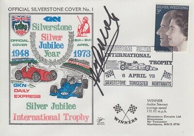 Henri Pescarolo Hand Signed Silverstone Silver Jubilee Year First Day Cover.