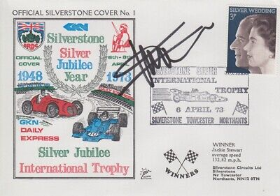 Gil de Ferran Hand Signed Silverstone Silver Jubilee Year First Day Cover.