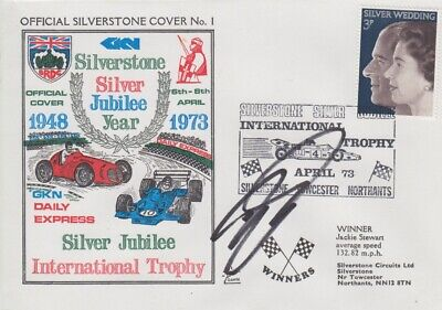 David Coulthard Hand Signed Silverstone Silver Jubilee Year First Day Cover.