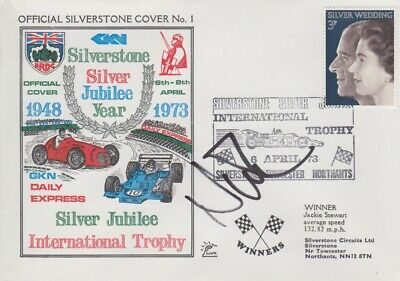 Nick Mason Hand Signed Silverstone Silver Jubilee Year First Day Cover.