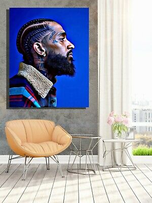 Nipsey Hussle Limited Edition Framed Canvas Wall Art (Ready To Hang) Home Decor