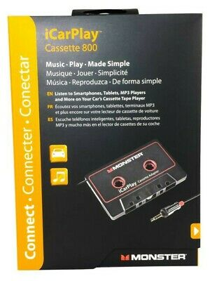 Monster iCarPlay 800 Cassette Adapter - iPod, iPhone, Android - Brand New