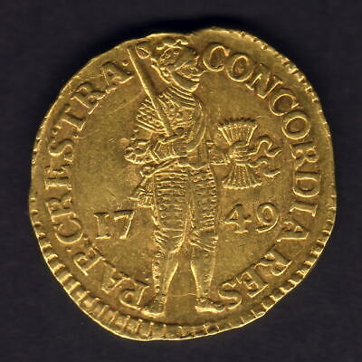 Netherlands - Utrecht. 1749 Gold - Trade Ducat.. aUNC - Much Lustre