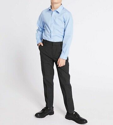 Marks And Spencer Boys Skinny Leg Longer Length School Trousers Age 13-14 Years