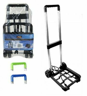 Folding Luggage Carrier Fold Up Wheels Foldable Boot Cart Shopping Golf Trolley