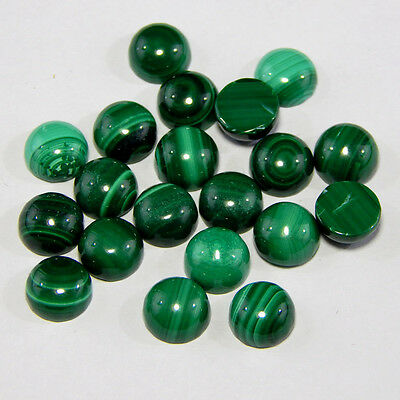 Cabochon Loose Gemstone Natural Malachite 7 mm Round Cabochon Top Quality