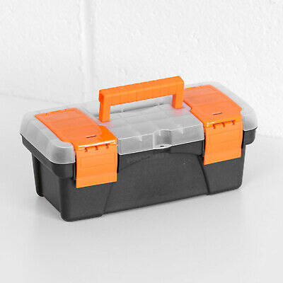 Heavy Duty Plastic Lockable Tool Box Carry Case With Tray DIY Storage SuperGift