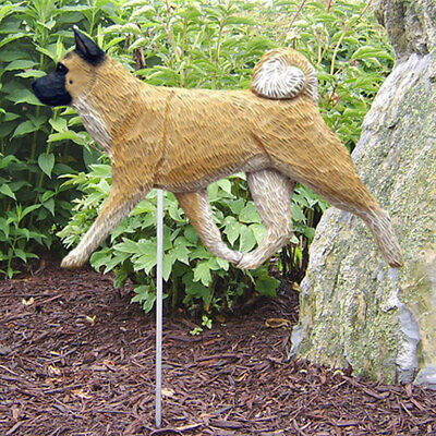 Akita Outdoor Garden Sign Hand Painted Figure Fawn