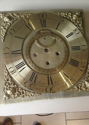 Complete Brass Grandfather Clock Face