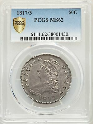 1817/3 US Silver 50C Capped Bust Half Dollar - PCGS MS62