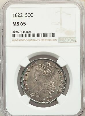 1822 US Silver 50C Capped Bust Half Dollar - NGC MS65