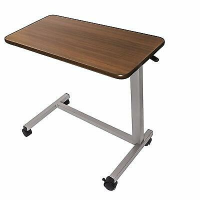 Vaunn  Adjustable Overbed Bedside Table With Wheels (Hospital And Home Use)