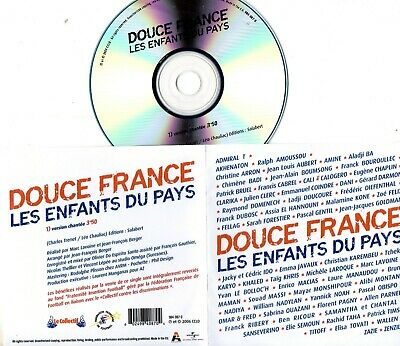 CD SINGLE PROMO ZAZIE Marc LAVOINE CALOGERO GOLDMAN CABREL BRUEL	Douce France