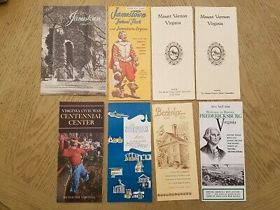VTG Lot 8 Virginia Brochures Norfolk Richmond Berkeley Jamestown Frederickstown