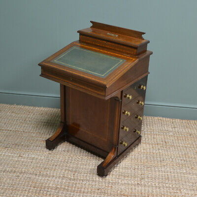 Victorian Inlaid Mahogany Antique Davenport Desk