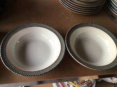 Denby Luxor Cereal Bowls X 2 Rimmed Diameter 7 Inches