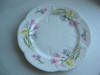 "SHELLEY England Freesia salad or cookie plate 8 1/8"" across fine bone china"