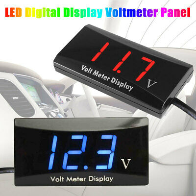 DC 8-16V  LED Digital Voltmeter Panel Display Voltage Automobile Accurate Meter