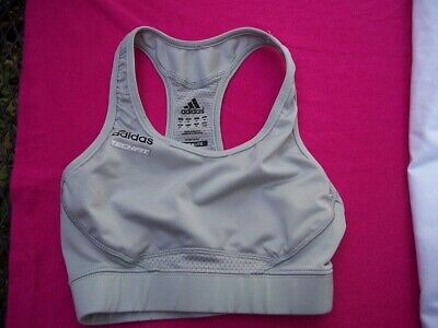 ADIDAS TechFit Climalite silver gray sports bra~girls size XS~x-small~