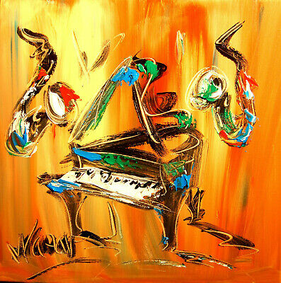 FINE ART JAZZ MUSIC modern abstract  Abstract Modern Original   Painting  CSDFH