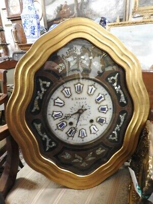 Opener Gallery a all Screen Antique Wall Clock 'Bullseye' Alabaster