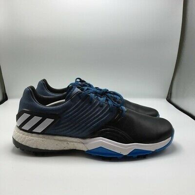 Adidas Adipower Mens 4orged Golf Shoes Black Blue Low Top Lace Up Cleats 12