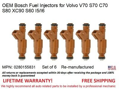 0280155831 5pcs  Bosch OEM Fuel Injectors For Volvo V70//S70//C70//S80//XC90//S60
