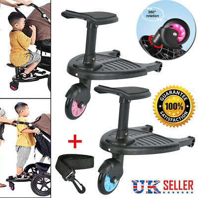 Buggy Stroller Step Board Stand Kids Child Toddler Wheeled Pushchair Connector