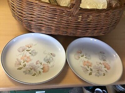 Denby Encore Dinner Plates X 2 Diameter 10 Inches