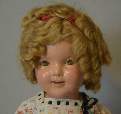 Antique Composition 1930's Ideal Shirley Temple Doll 20""