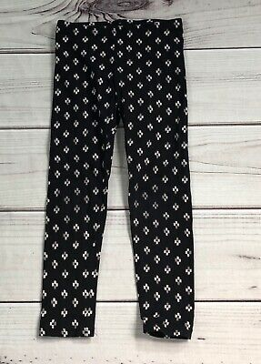 Old Navy girls Medium 8 leggings black tribal print