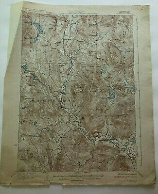 1932 Geological Survey Topographic Map NH Rumney Warren White Mountains