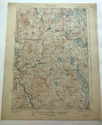1927 Geological Survey Topographic Map NH Sanbornton Holderness Squam Lake