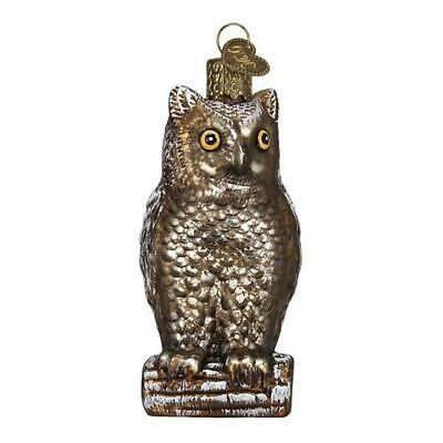 Vintage Wise Old Owl Bird Halloween Ornament Old World Christmas New In Box