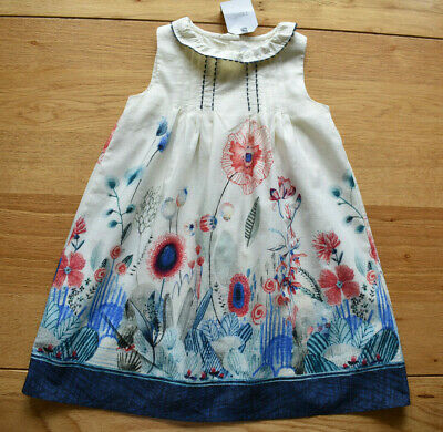 BNWT NEXT 2-3 years girls MEADOW SUMMER DRESS WITH FLOWERS *RED/BLUE/WHITE