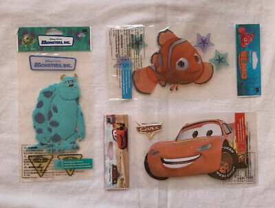 Disney Jolee's Dimensional Sticker ~ Pixar Finding Nemo Monsters Inc Cars LOT