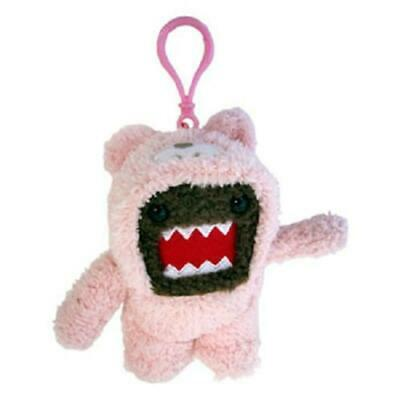 "Domo 4"" Plush Clip-On: Domo (Pink Bunny Suit)"