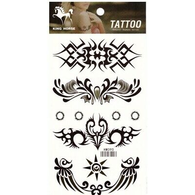 Tattoo Tatouage Temporaire Ephemere Motif Tribal Noir & Blanc
