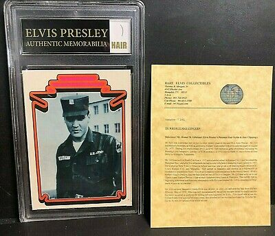 ELVIS PRESLEY Authentic HAIR MEMORABILIA With 1978 Trading Card #41 CERTIFIED!!