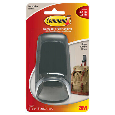 7.5lb 3M Command Jumbo Utility General Purpose Hanging Hook Holds up to 3.4kg