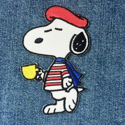 Baseball Snoopy and Charlie Brown Peanuts Snoopy Iron On Patches